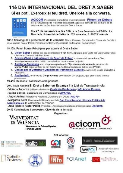 2013 Dia Internacional Dret a Saber
