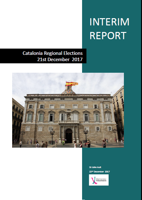 Portada Informe Voluntaris per a la democràcia