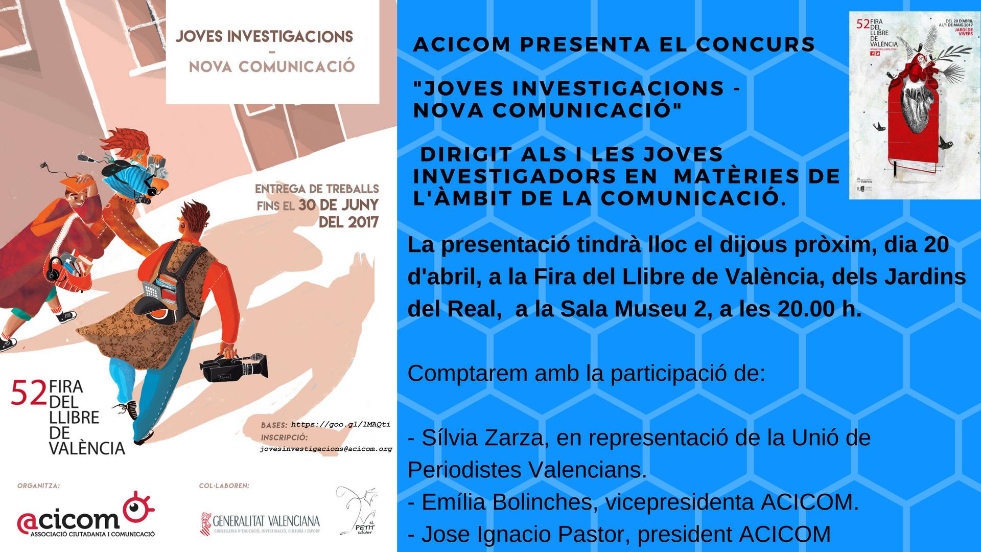 Presentació Joves Investigacions Nova Comunicació