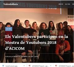 Valentubers a la Mostra de Youtubers d'ACICOM del 2018 red