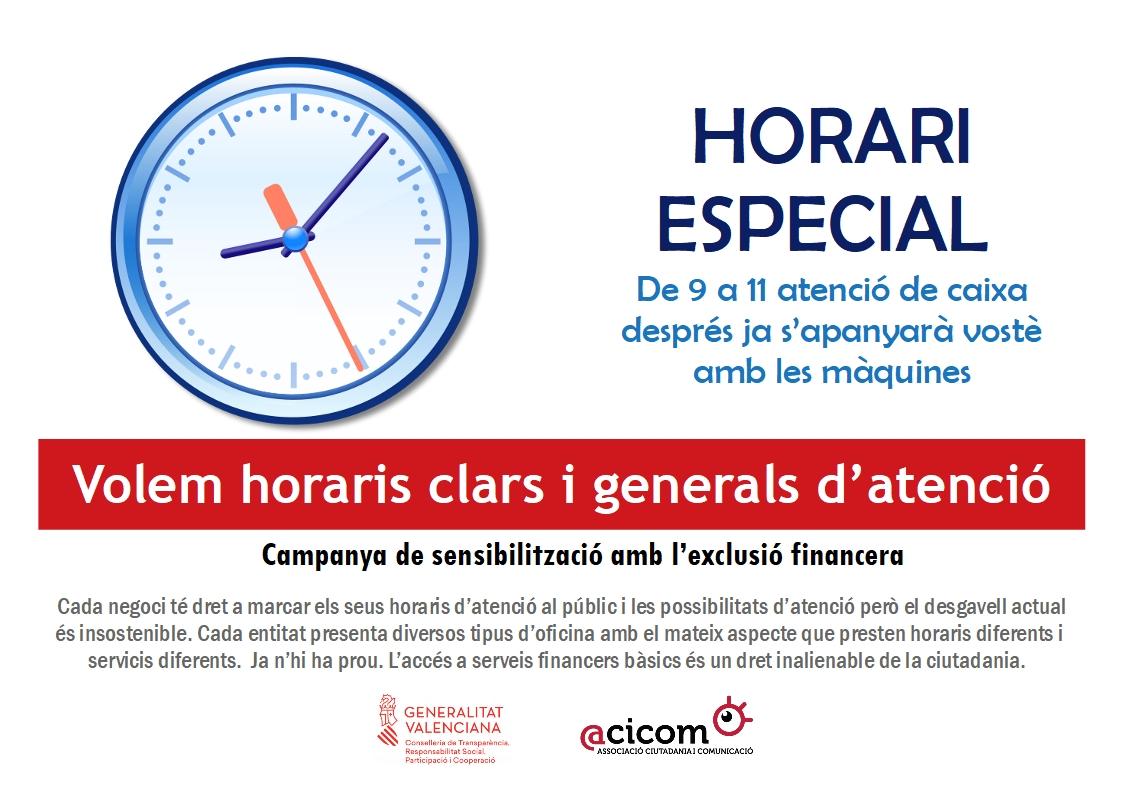 2 Exclusio financera horaris especials