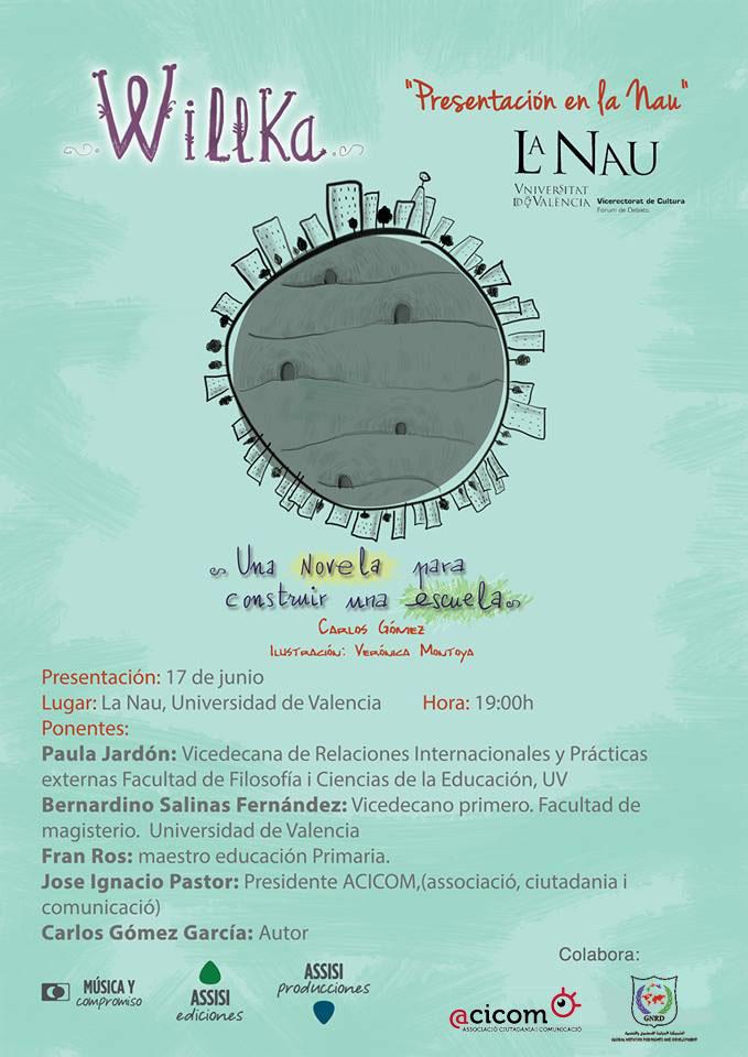 20140617 Cartell presentació WILLKA La Nau