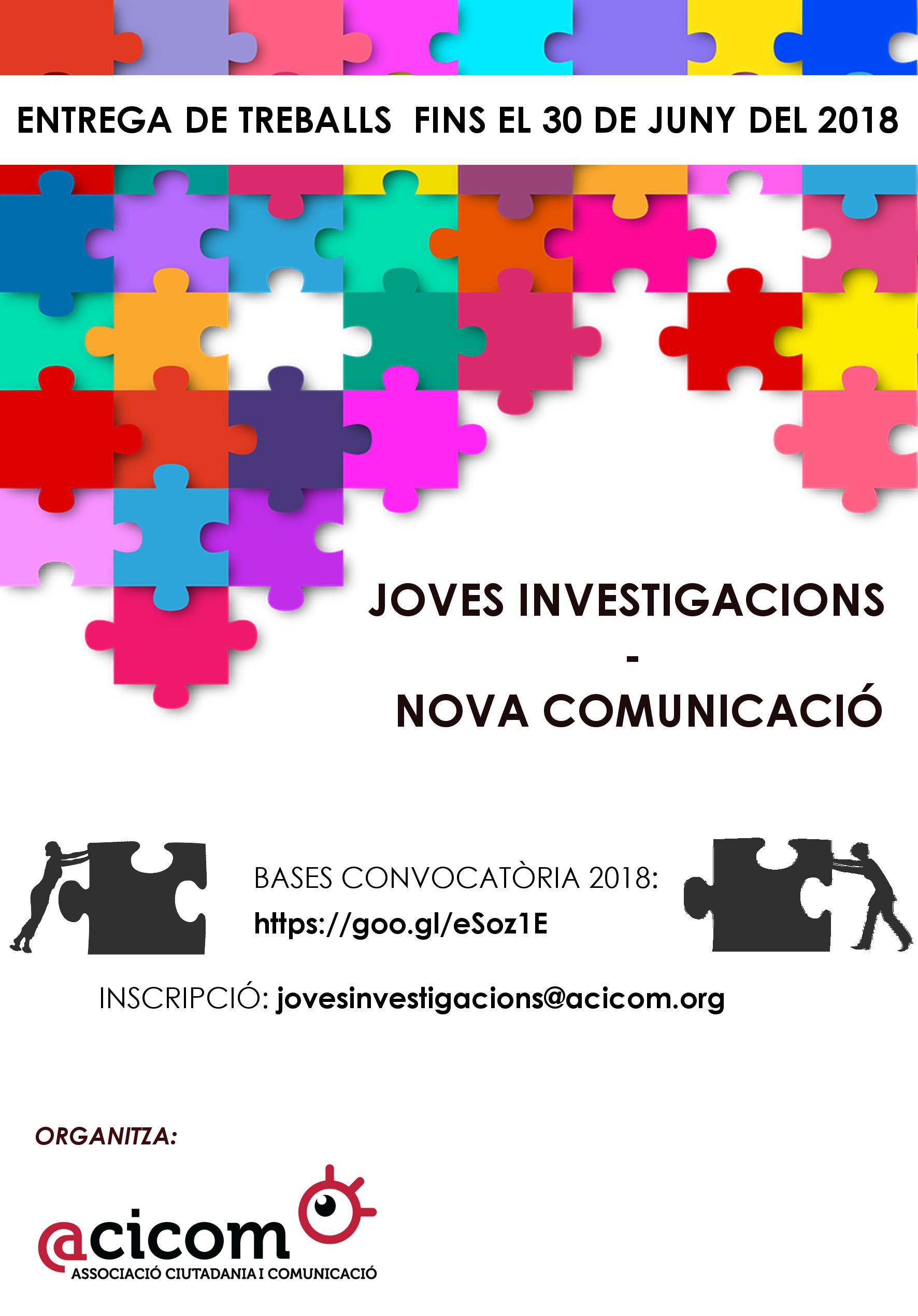 2018 Cartell Joves Investigacions Nova Comunicació