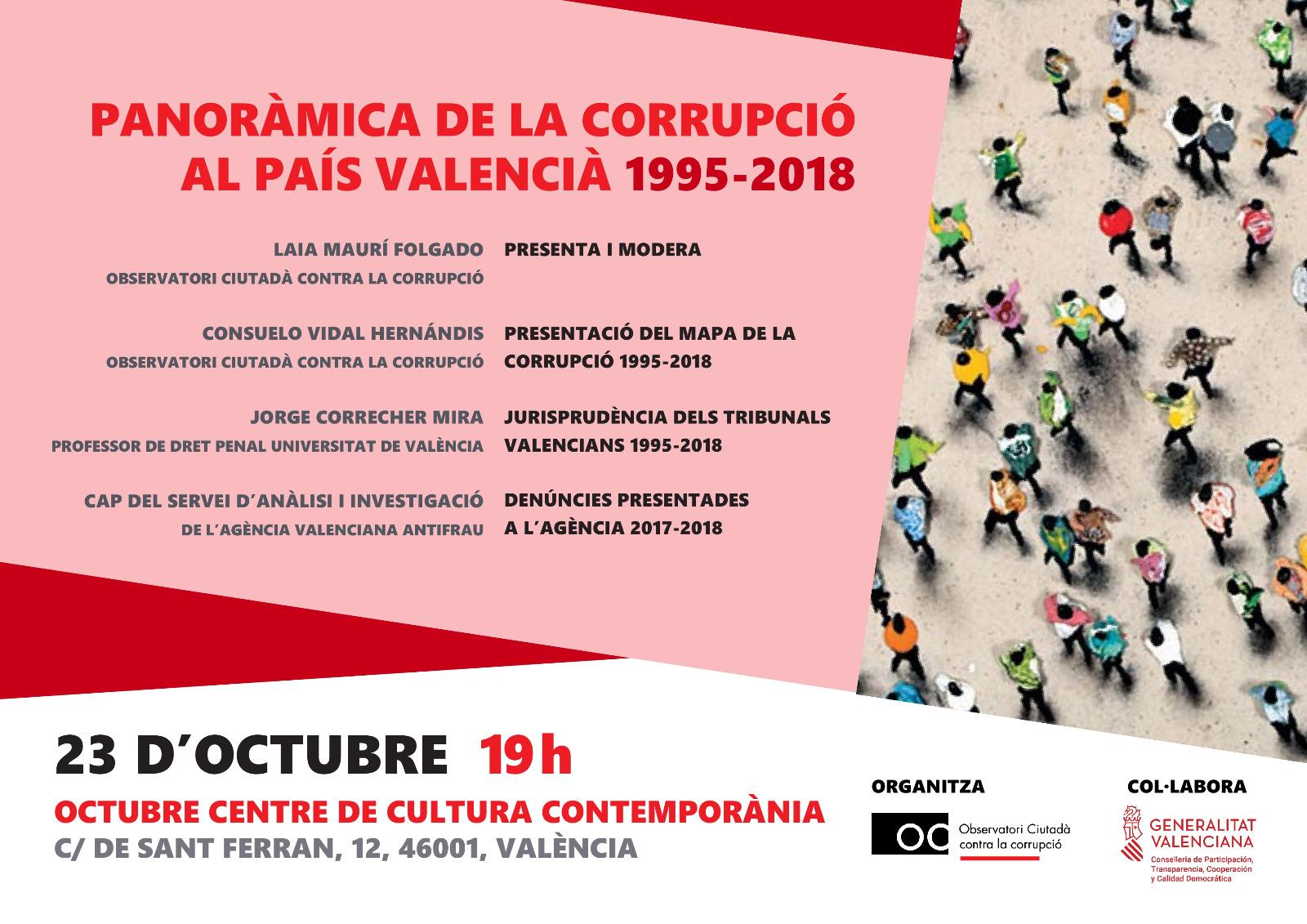20191023 Cartell Panoràmica de la Corrupció al País Valencià