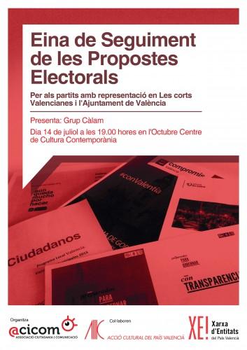 Cartell Eina de seguiment propostes electorals
