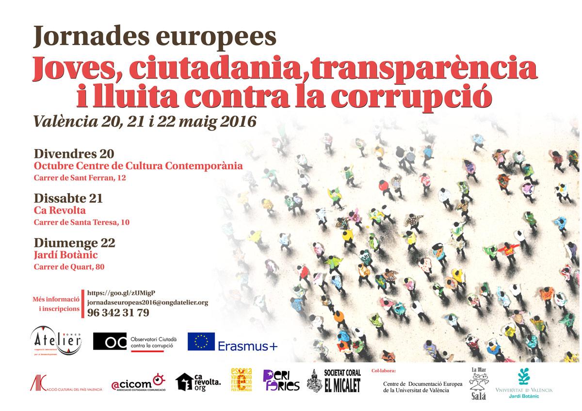 Cartell Joves Ciutadania Transparència i lluita contra la corrupció