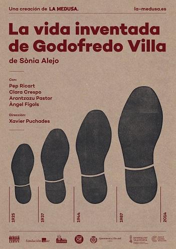 Cartell La Vida inventada de Godofredo Villa red