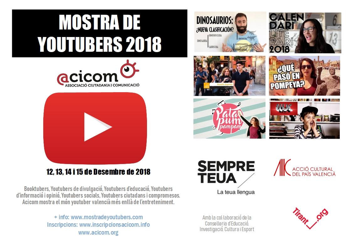 Cartel Muestra de YouTubers 2018 ACICOM