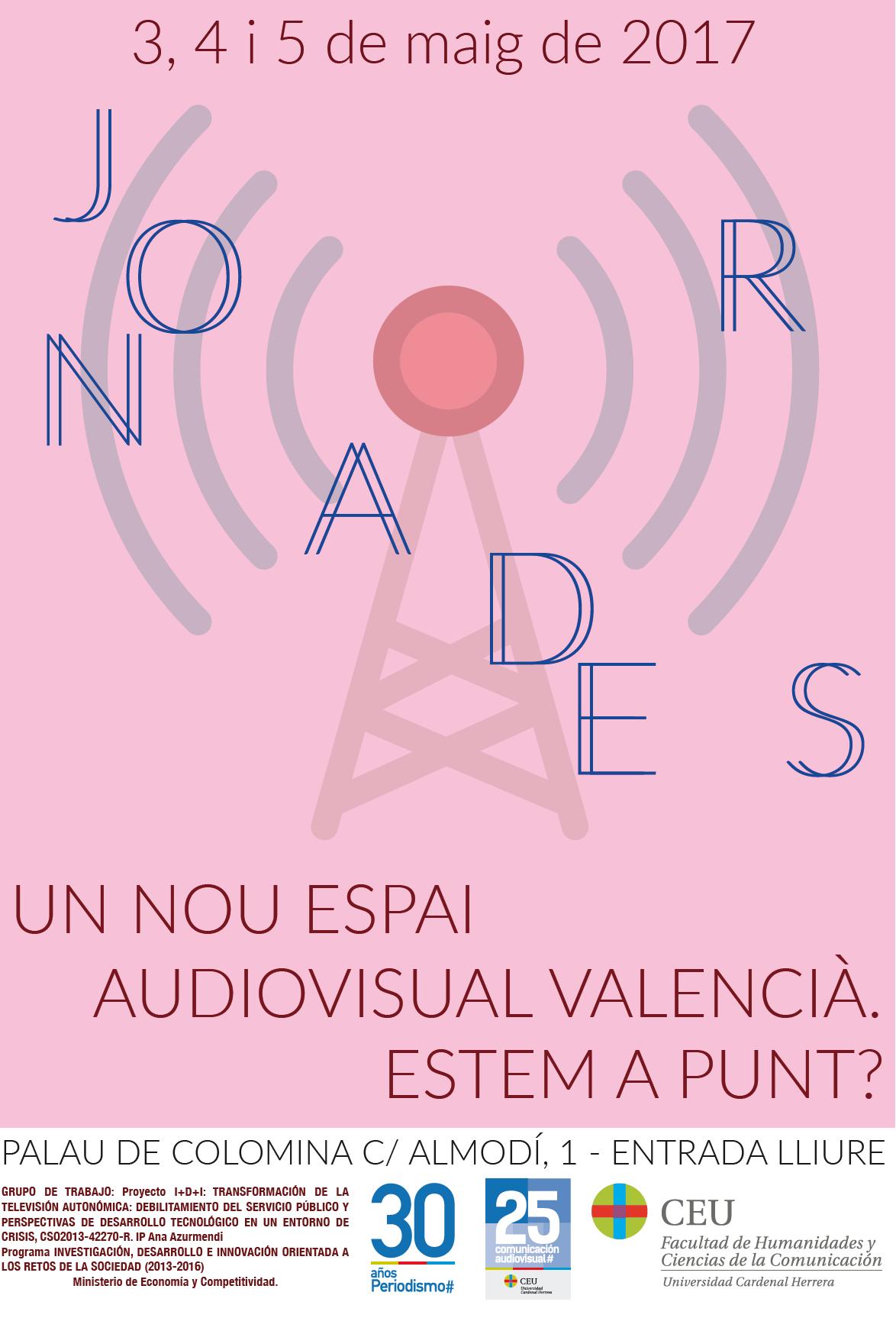 Cartell Un nou espai audiovisual valencià. Estem a Punt À