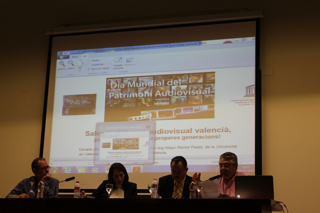 Mesa Dia Mundial del Patrimoni Audiovisual 29 d'octubre de 2013