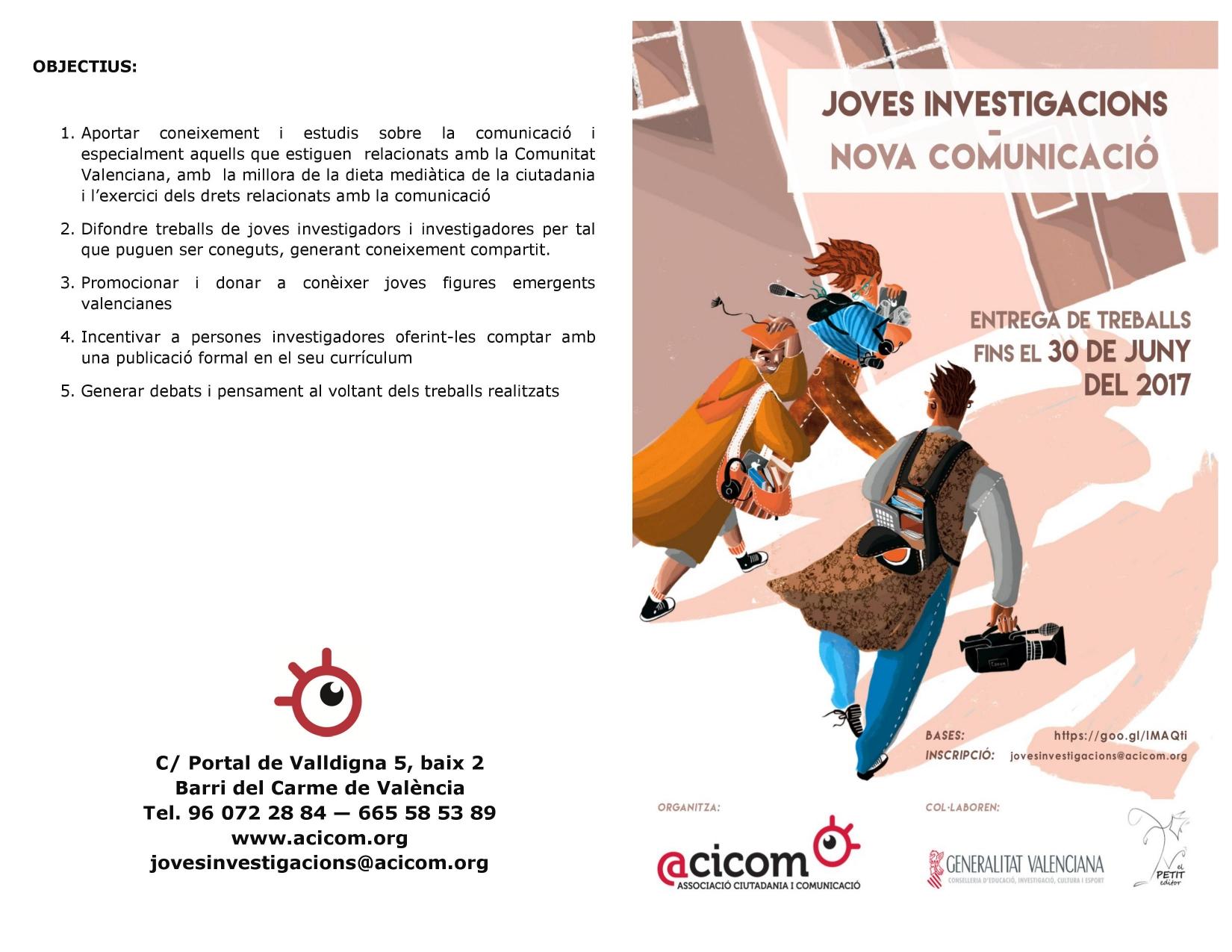 Folleto BASES Jóvenes Investigaciones Nueva Comunicación 1-2
