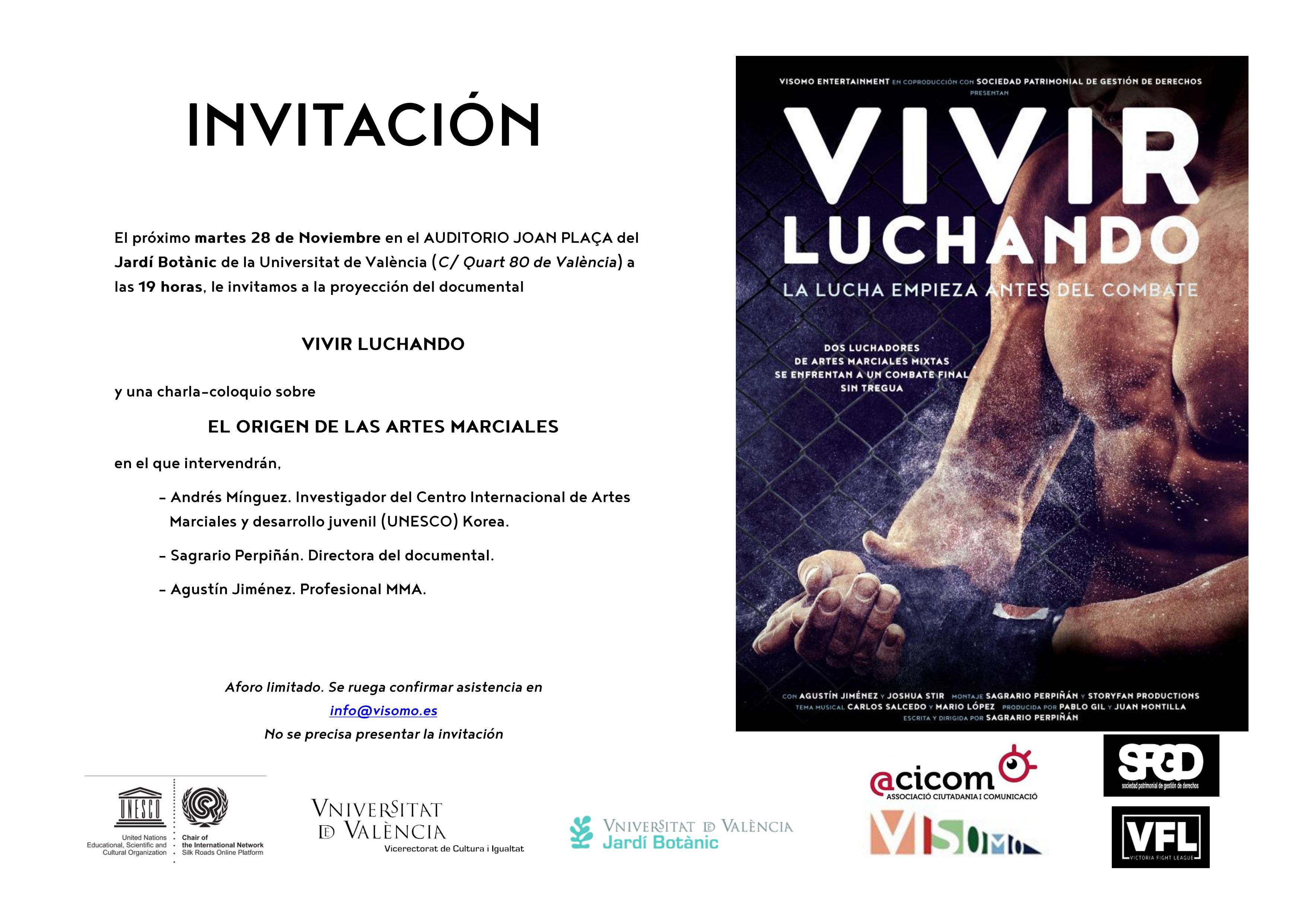 Invitació Botànic Vivir Luchando