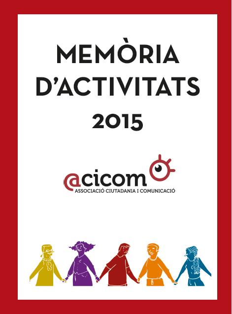Portada memòria d'activitats 2015