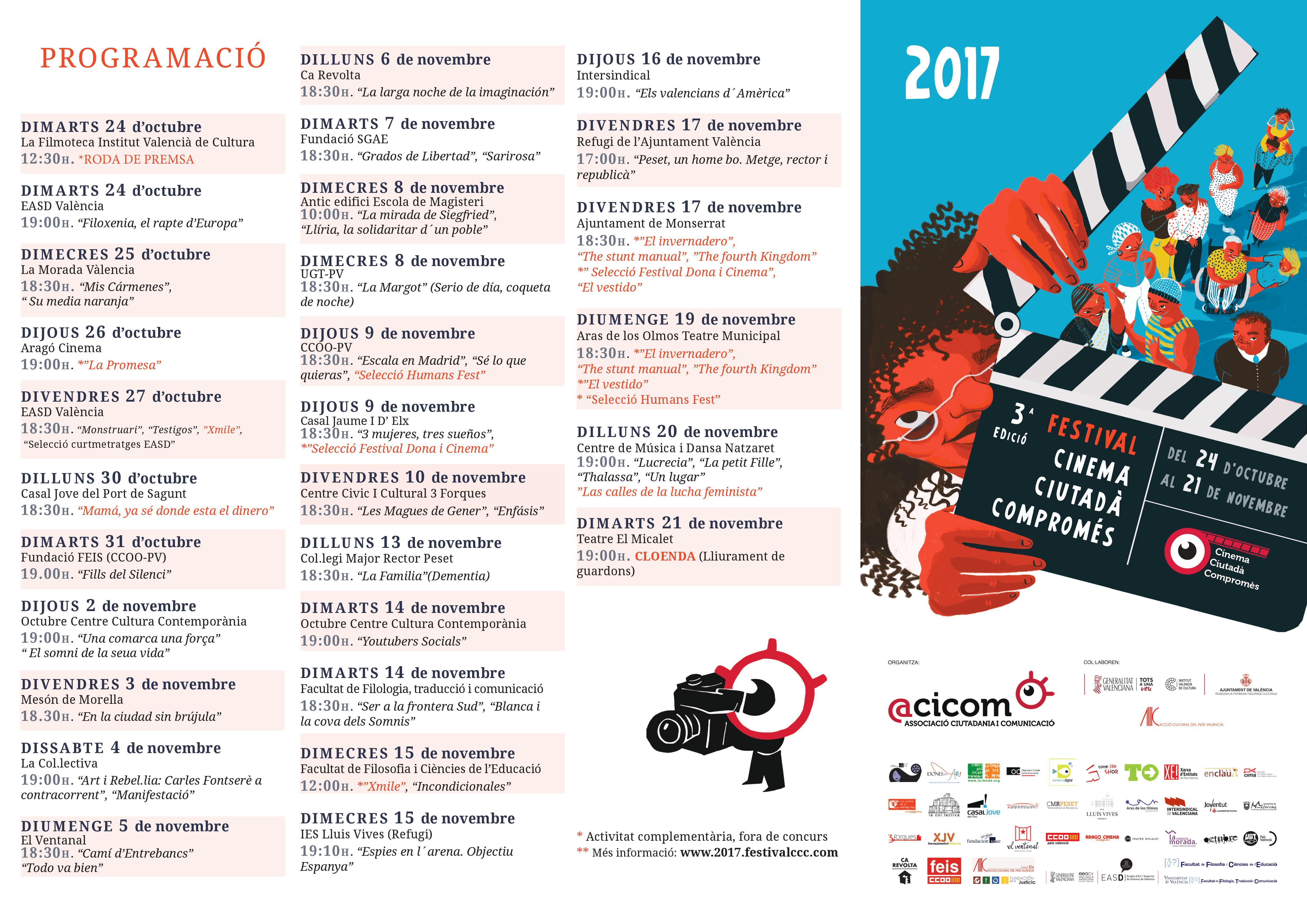 Programació Festival CCC 2017