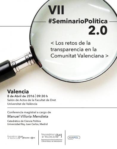 VII Seminario de Política 2.0. Los retos de la transparencia en la Comunitat Valenciana