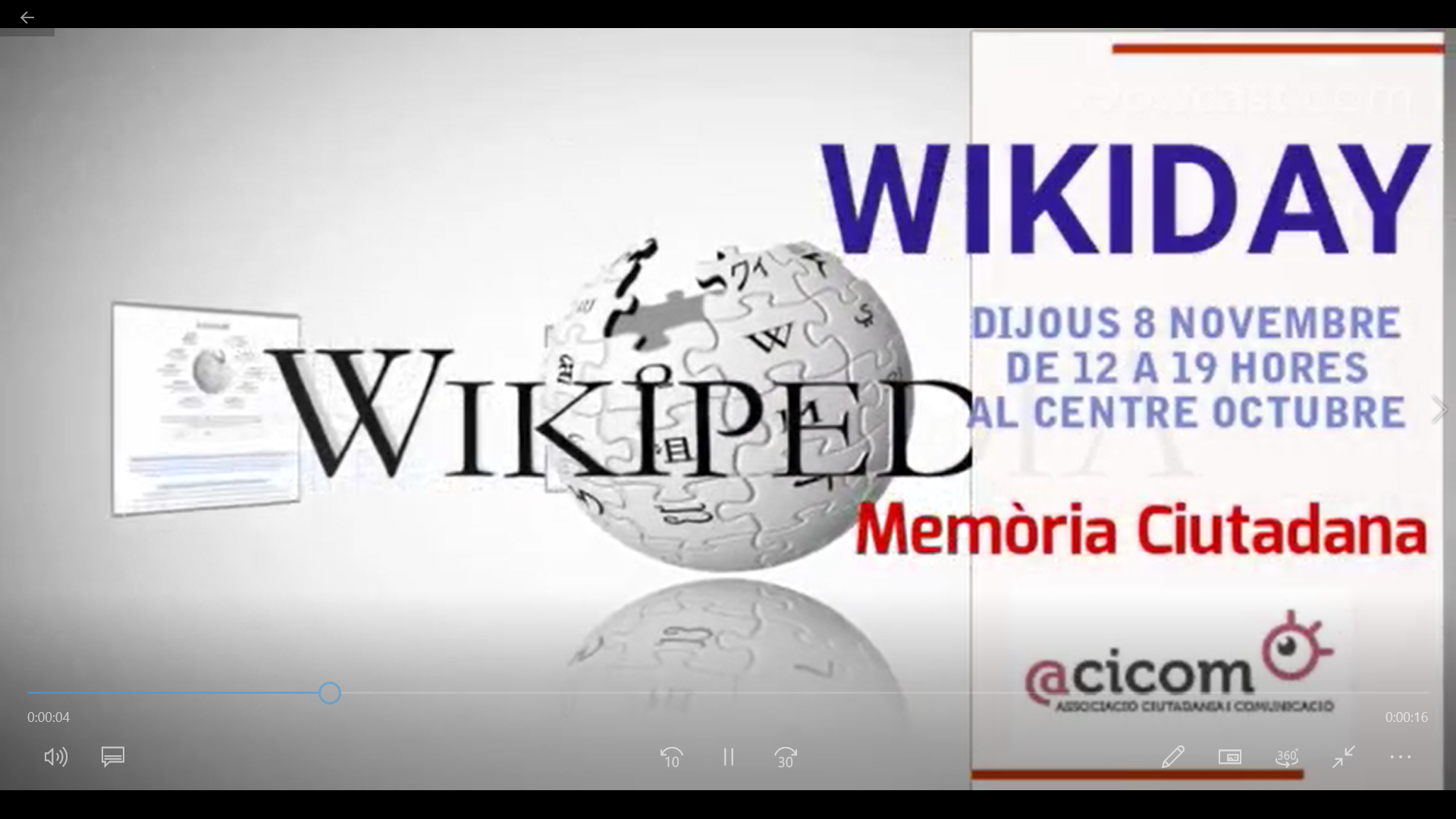 WikiDay captura vídeo