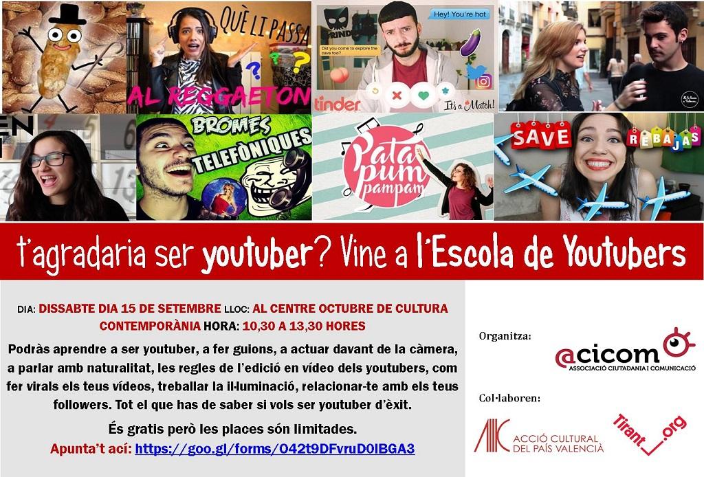 ESCUELA DE YouTubers DE ACICOM