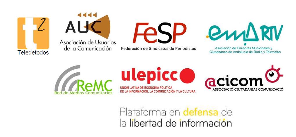 logos entitats defensa mitjans públics